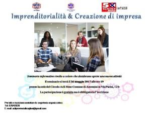 seminario imprenditorialità e creazione di impresa